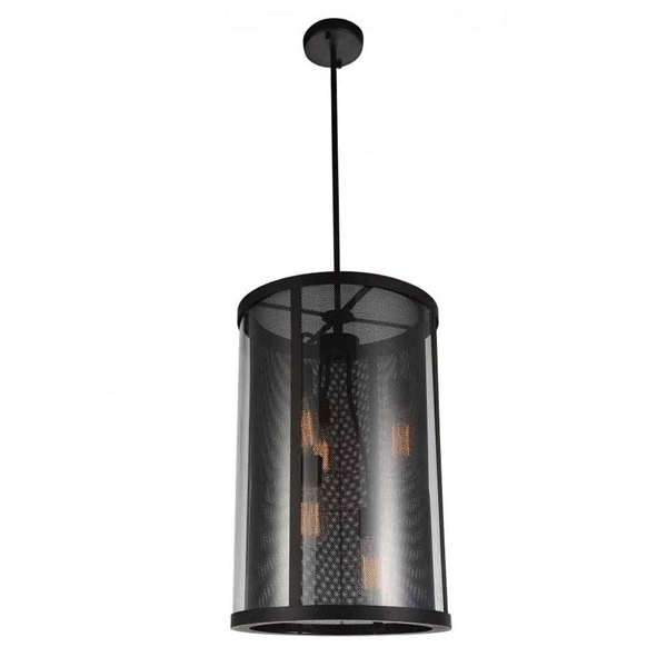 "Picture of 26"" 5 Light Down Pendant with Reddish Brown finish"