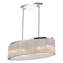 """26"""" 5 Light Drum Shade Chandelier with Chrome finish"""