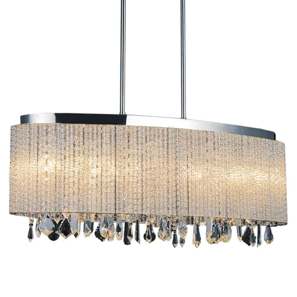 """Picture of 26"""" 5 Light Drum Shade Chandelier with Chrome finish"""