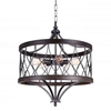 """Picture of 26"""" 5 Light Drum Shade Chandelier with Gun Metal finish"""