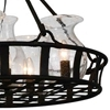 "Picture of 26"" 5 Light Up Chandelier with Antique Black finish"