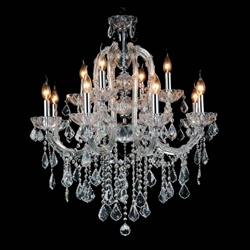"26"" 5 Light Up Chandelier with Chrome finish"