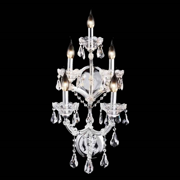 "Picture of 26"" 5 Light Wall Sconce with Chrome finish"