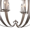 "Picture of 26"" 6 Light  Chandelier with Pewter finish"