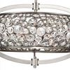 "Picture of 26"" 6 Light  Chandelier with Satin Nickel finish"