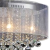 "Picture of 26"" 6 Light Drum Shade Chandelier with Chrome finish"