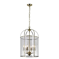 """26"""" 6 Light Up Chandelier with Antique Bronze finish"""