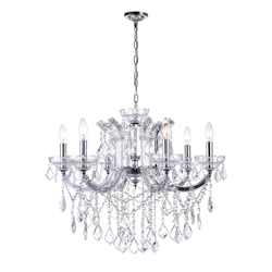 """26"""" 6 Light Up Chandelier with Chrome finish"""