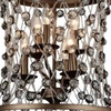 """Picture of 26"""" 6 Light Up Chandelier with Speckled Bronze finish"""