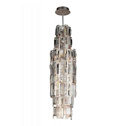 "26"" 7 Light Down Mini Chandelier with Champagne finish"