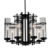 "Picture of 26"" 8 Light Up Chandelier with Black finish"