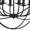 "Picture of 26"" 8 Light Up Chandelier with Brown finish"