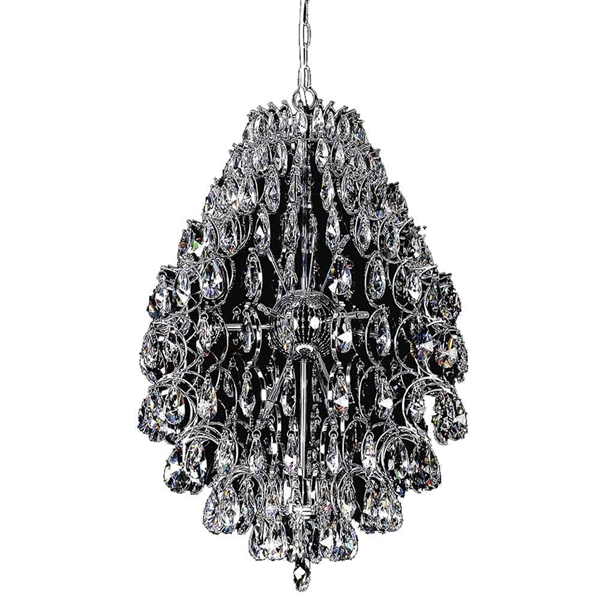 "Picture of 26"" 9 Light  Chandelier with Chrome finish"