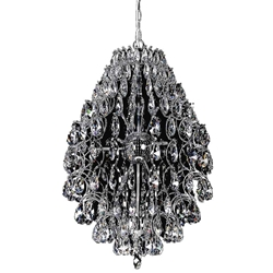 """26"""" 9 Light  Chandelier with Chrome finish"""