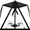 "Picture of 26"" 9 Light Candle Chandelier with Black finish"