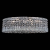 "Picture of 26"" Bossolo Transitional Crystal Oval Flush Mount Chandelier Polished Chrome 8 Lights"