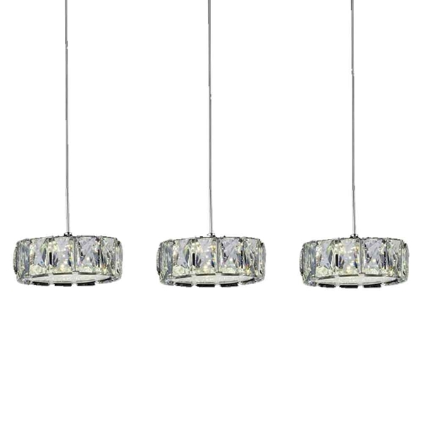 "Picture of 26"" LED Multi Light Pendant with Chrome finish"
