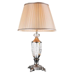 "27"" 1 Light Table Lamp with Brushed Nickel finish"