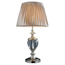 "27"" 1 Light Table Lamp with Silver finish"