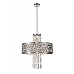 "27"" 12 Light  Chandelier with Satin Nickel finish"