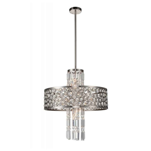 """Picture of 27"""" 12 Light  Chandelier with Satin Nickel finish"""