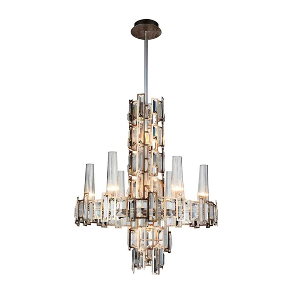"Picture of 27"" 12 Light Down Chandelier with Champagne finish"