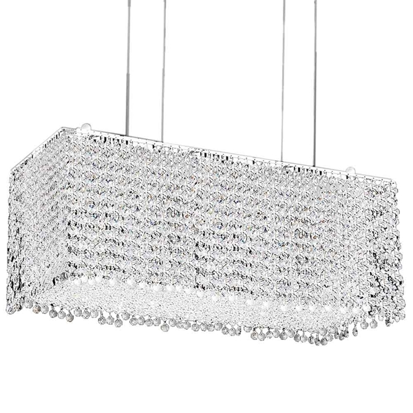 "Picture of 27"" 18 Light Down Chandelier with Chrome finish"