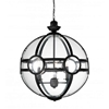 "Picture of 27"" 3 Light  Pendant with Black finish"