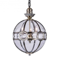 """27"""" 3 Light Chandelier with Antique Brass Finish"""