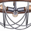 "Picture of 27"" 3 Light Down Chandelier with Chrome finish"