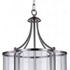 "Picture of 27"" 4 Light Drum Shade Pendant with Satin Nickel finish"