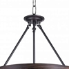 """Picture of 27"""" 5 Light Drum Shade Chandelier with Gun Metal finish"""