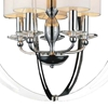 "Picture of 27"" 5 Light Up Chandelier with Chrome finish"
