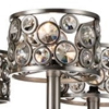 """Picture of 27"""" 5 Light Up Chandelier with Satin Nickel finish"""