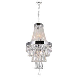 """27"""" 6 Light  Chandelier with Chrome finish"""