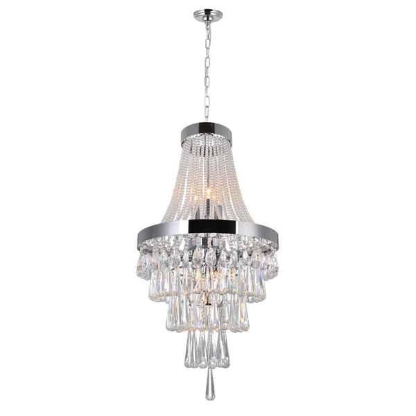 "Picture of 27"" 6 Light  Chandelier with Chrome finish"