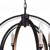 "Picture of 27"" 6 Light Candle Chandelier with Golden Brown finish"