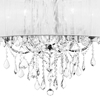"Picture of 27"" 6 Light Up Chandelier with Chrome finish"