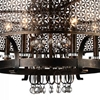 "Picture of 27"" 6 Light Up Chandelier with Golden Bronze finish"