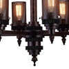"Picture of 27"" 6 Light Up Chandelier with Rust finish"