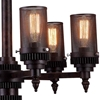 """Picture of 27"""" 6 Light Up Chandelier with Rust finish"""