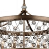 "Picture of 27"" 6 Light Up Chandelier with Speckled Bronze finish"