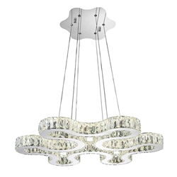"""27"""" LED  Chandelier with Chrome finish"""