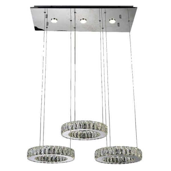 "Picture of 27"" LED  Chandelier with Chrome finish"