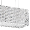 "Picture of 27"" Rainbow Modern Rectangular Crystal Chandelier, Polished Chrome, 18 Lights, Clear / Black / Purple / Red or Blue Crystal"