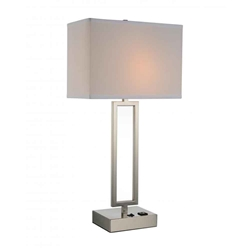 """28"""" 1 Light Table Lamp with Satin Nickel finish"""