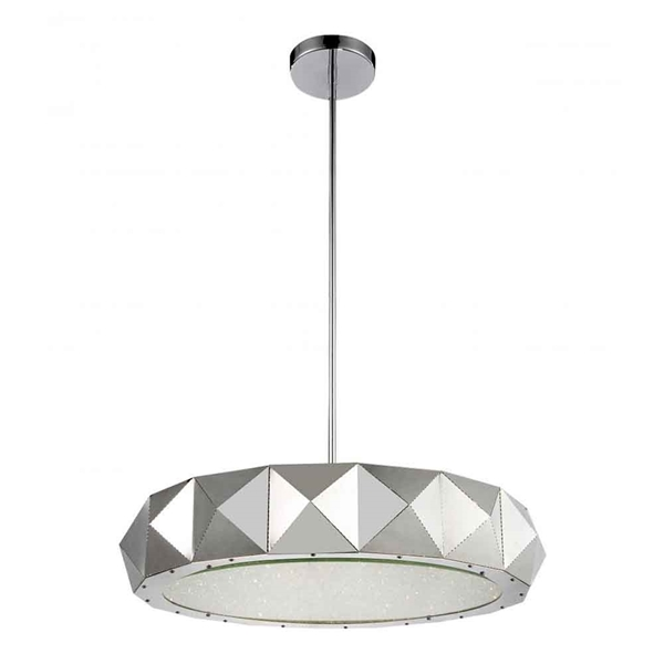 "Picture of 28"" 12 Light Drum Shade Chandelier with Chrome finish"