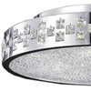 "Picture of 28"" 12 Light Drum Shade Flush Mount with Chrome finish"