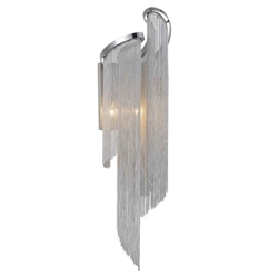 """28"""" 2 Light Wall Sconce with Chrome finish"""