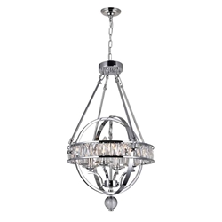 """28"""" 4 Light  Chandelier with Chrome finish"""